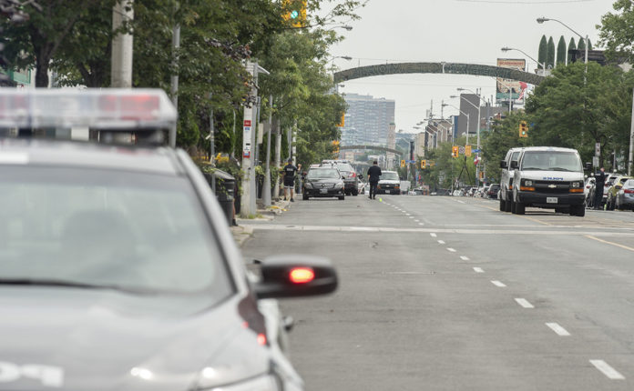 Toronto Police on Danforth