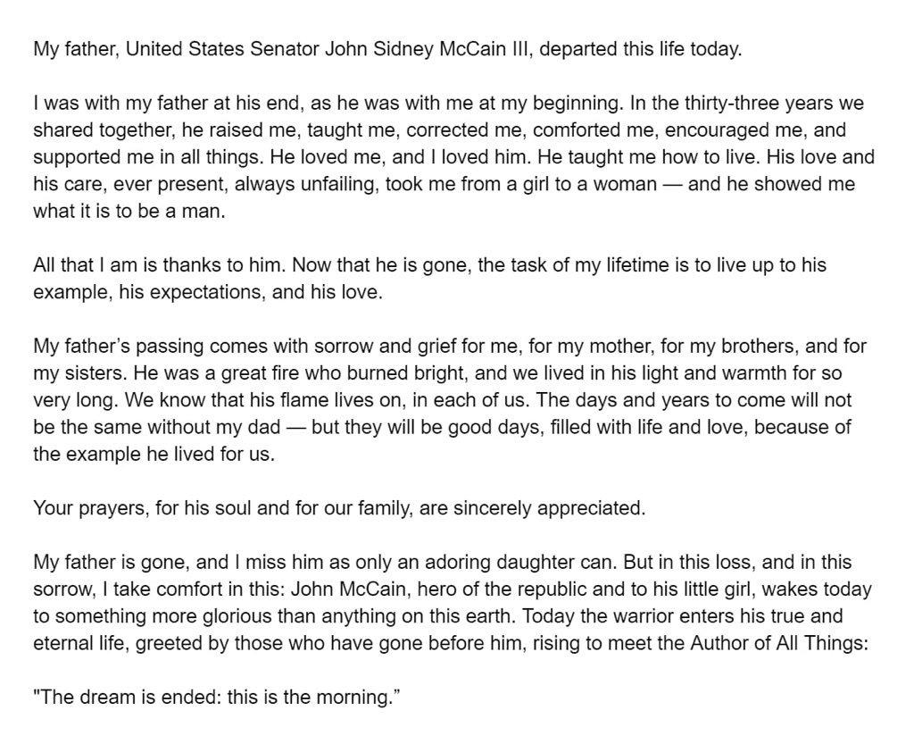 Meghan McCain statement