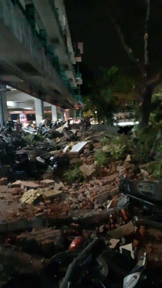 Damage in Lombok