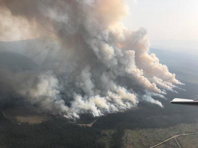 BC interior wildfire