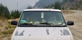 Van found near murder scene