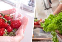 Washing fruit for safety