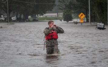 Soldier in rescue in NC