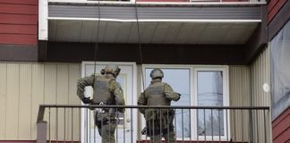 RCMP search mail bomb home