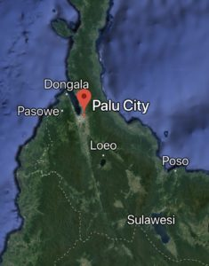 Palu city and Dongala worst hit by quake and Tsunami - Google Map