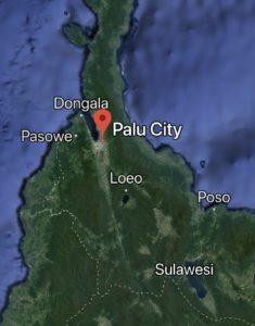 Palu city and Dongala worst hit by quake and Tsunami - Google Map