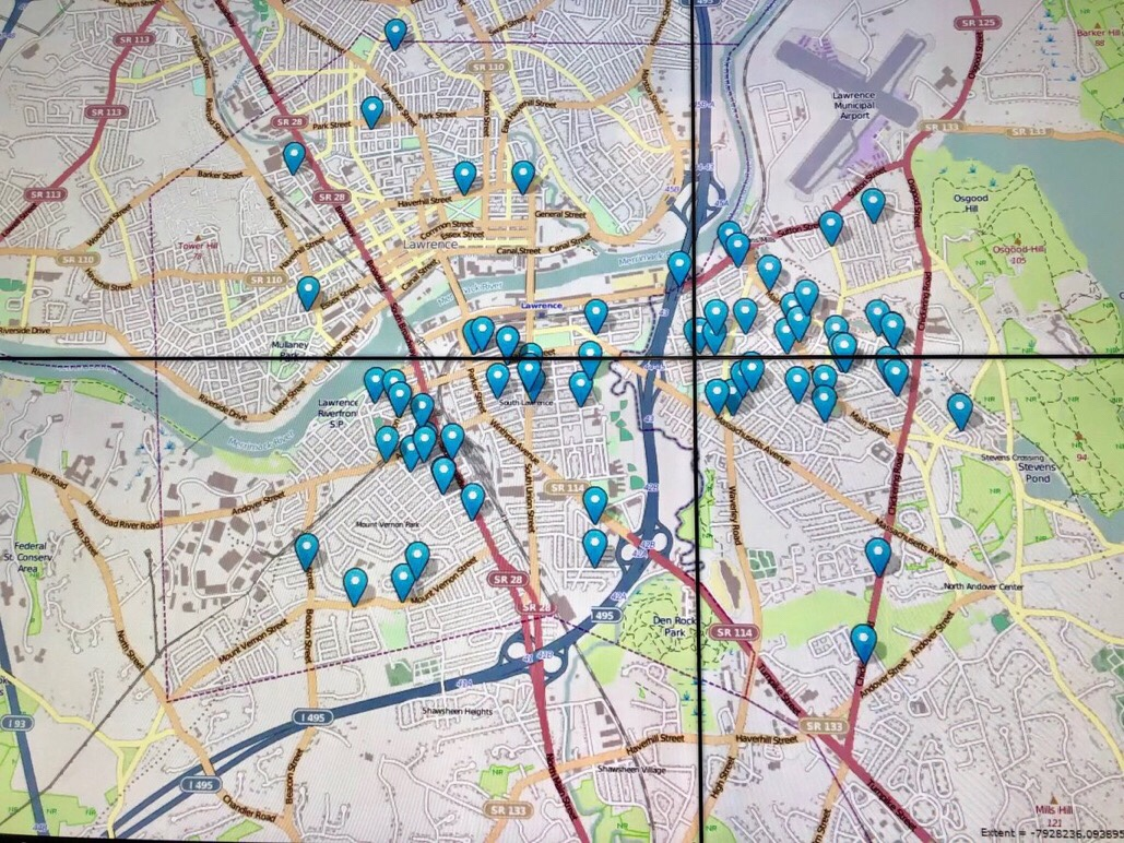 State Police mark locations of explosions