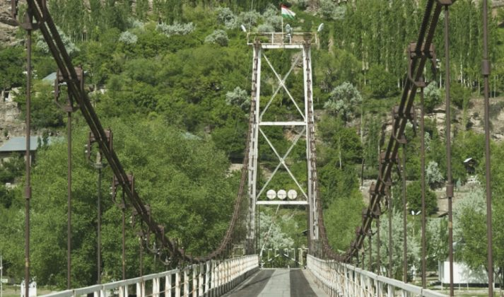 Shugnan bridge connects Afghanistan and Tajikistan
