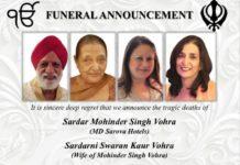 Vohra family of Kenya funeral scheduled.
