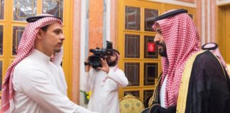 Salah Khashoggi with MBS