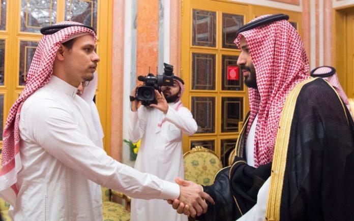 Salah Khashoggi with MBS