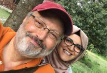 Jamal Khashoggi and fiancee