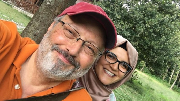 Jamal Khashoggi and fiancee