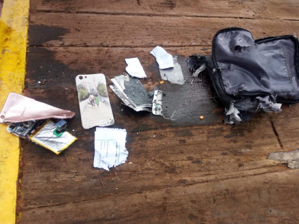 Items from crashed Lion Air Flight.