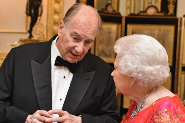 Aga Khan with queen