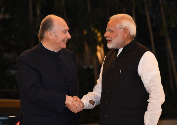 Aga Khan with Modi