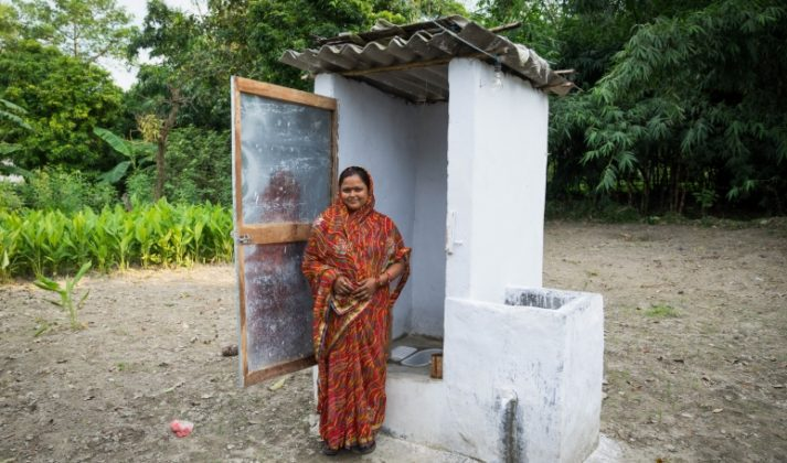 Building toilets in India