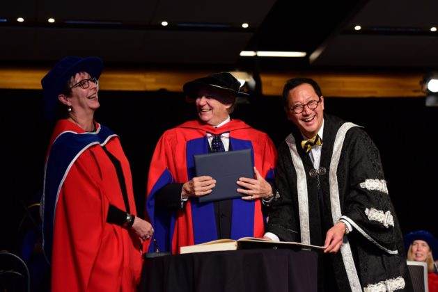 Aga Khan jokes with UBC's Santa Ona